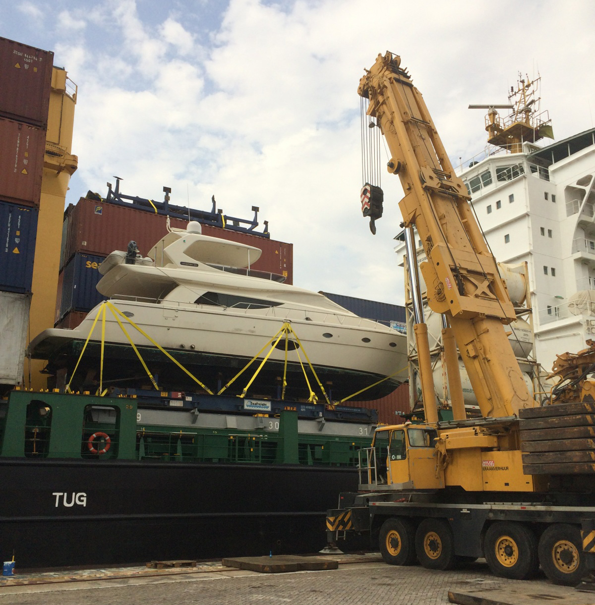 yacht transport company, florida, boat shipping service